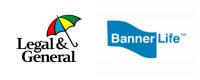Banner Life and Legal and General logos 200